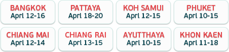 Songkran Schedule