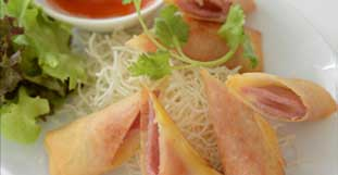 Ham and Cheese Spring Rolls